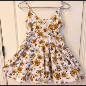 sunflower mini skater dress